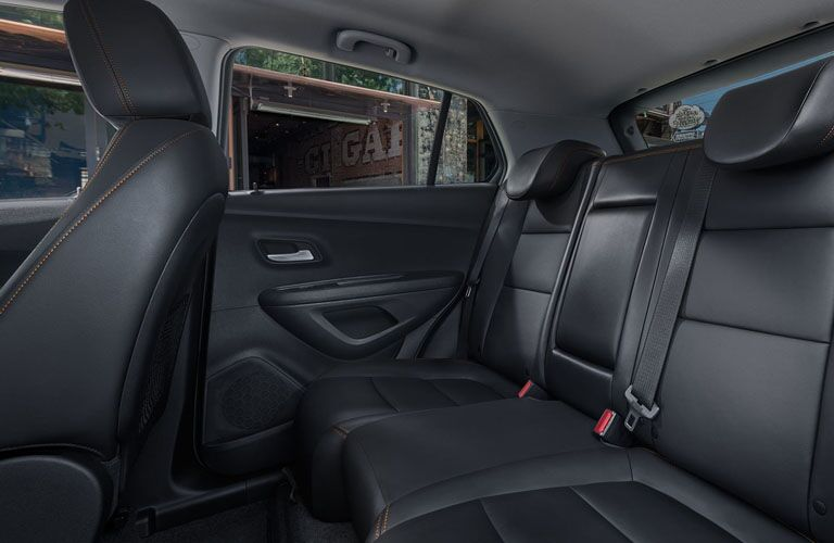 back seat of 2019 trax