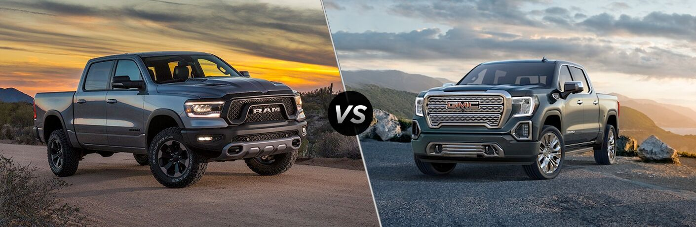 2019 ram 1500 compared to 2019 GMC Sierra