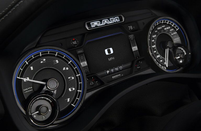 Driver information cluster of the 2019 Ram 1500