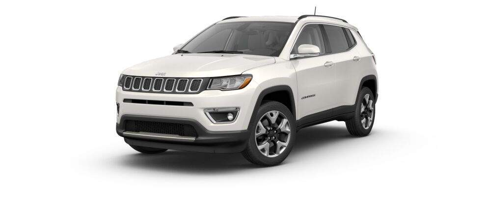 2017 jeep compass in pearl white
