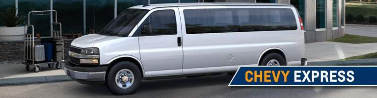 2018 Chevy Express white side view