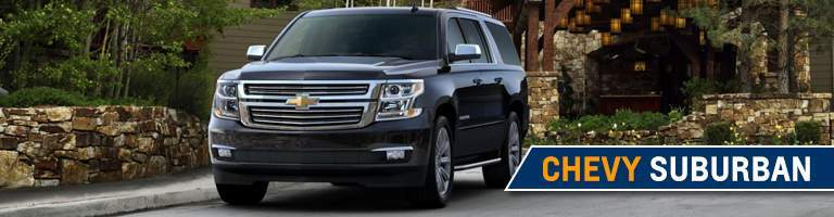2018 Chevy Suburban front view black