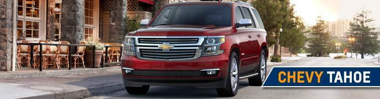 2018 Chevy Tahoe parked downtown
