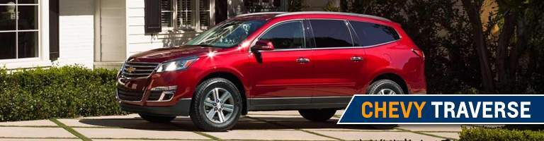 2018 Chevy Traverse red side view
