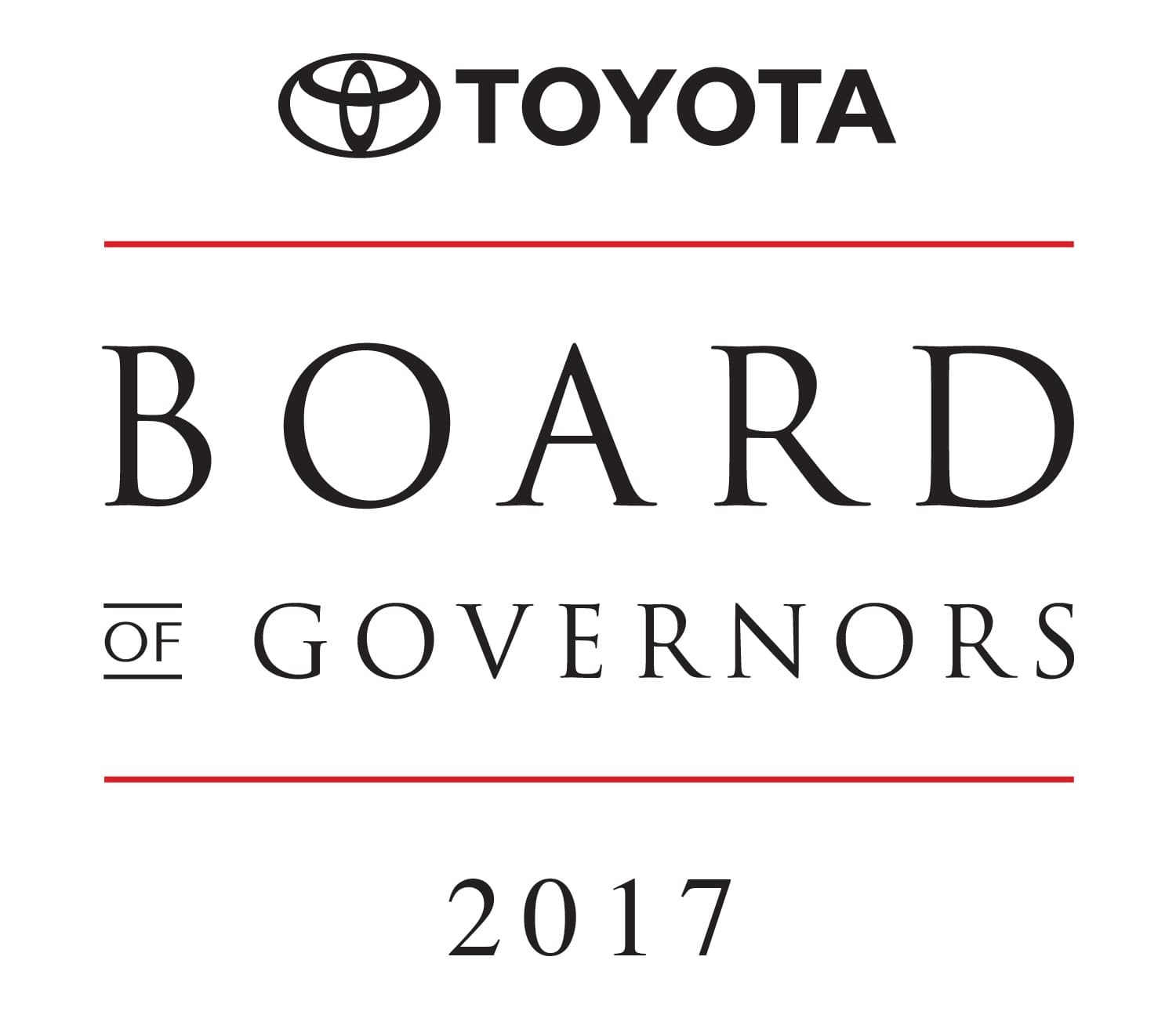Toyota Board of Governors Award