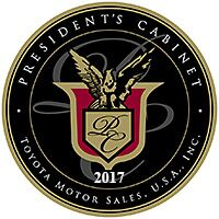Toyota Presidents Cabinent Award