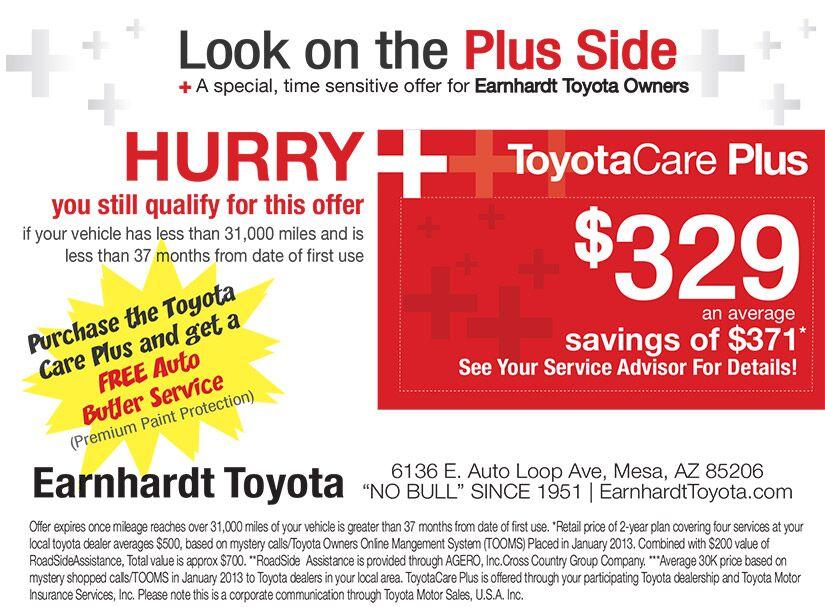 Car Coupons Mesa AZ Earnhardt Toyota