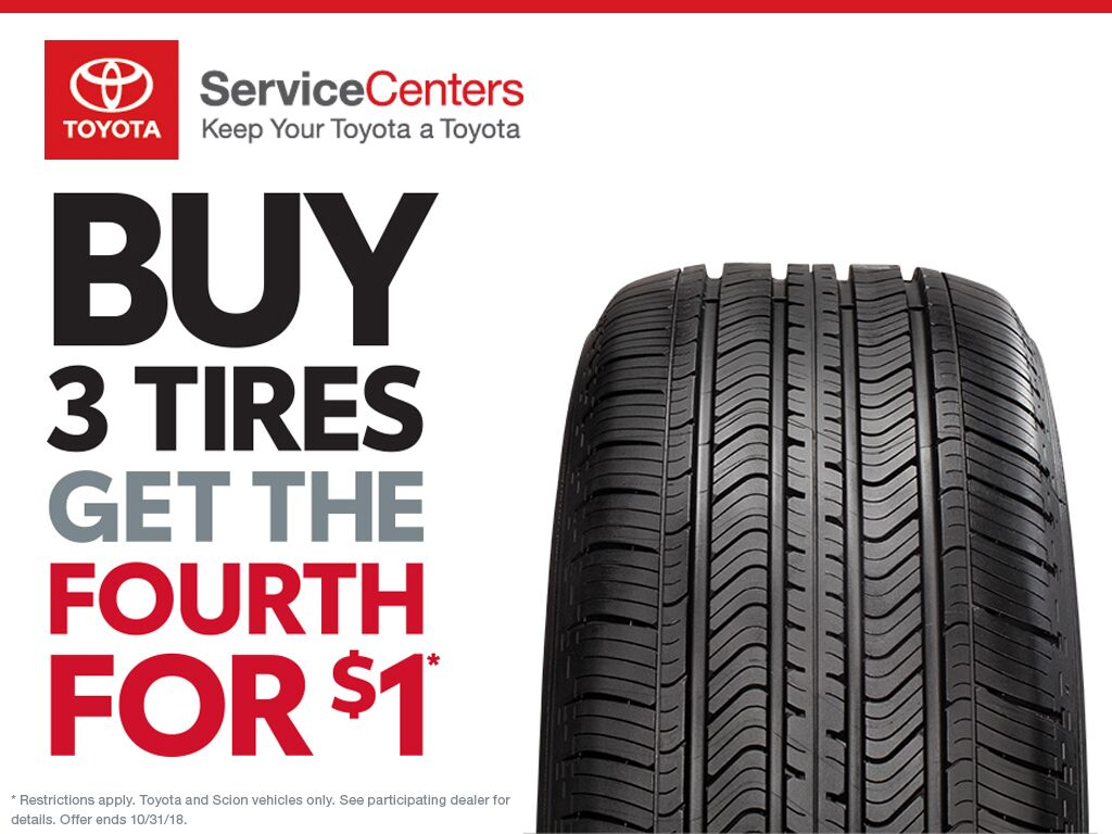 Buy 3 Tires, Get 4th tire for $1