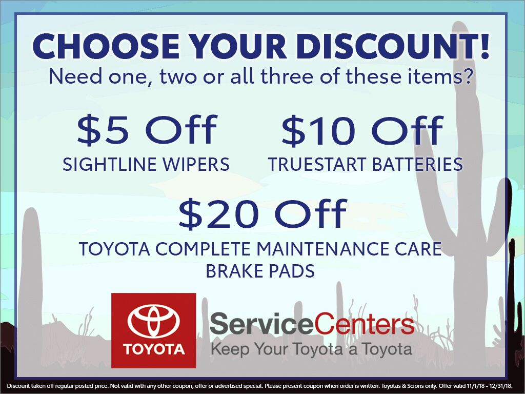 Choose Your Discount at Earnhardt Toyota