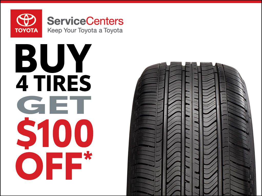 Buy 4 Tires and Save $100 at Earnhardt Toyota in Mesa