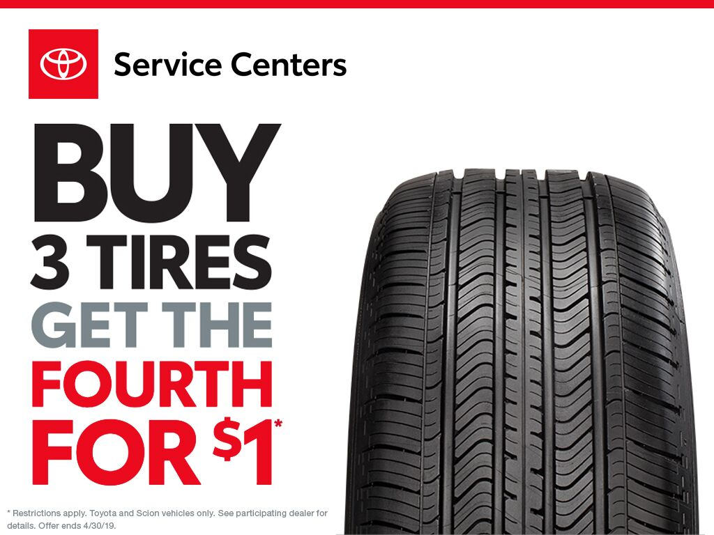 Buy 3 Tires Get the Fourth for $1!