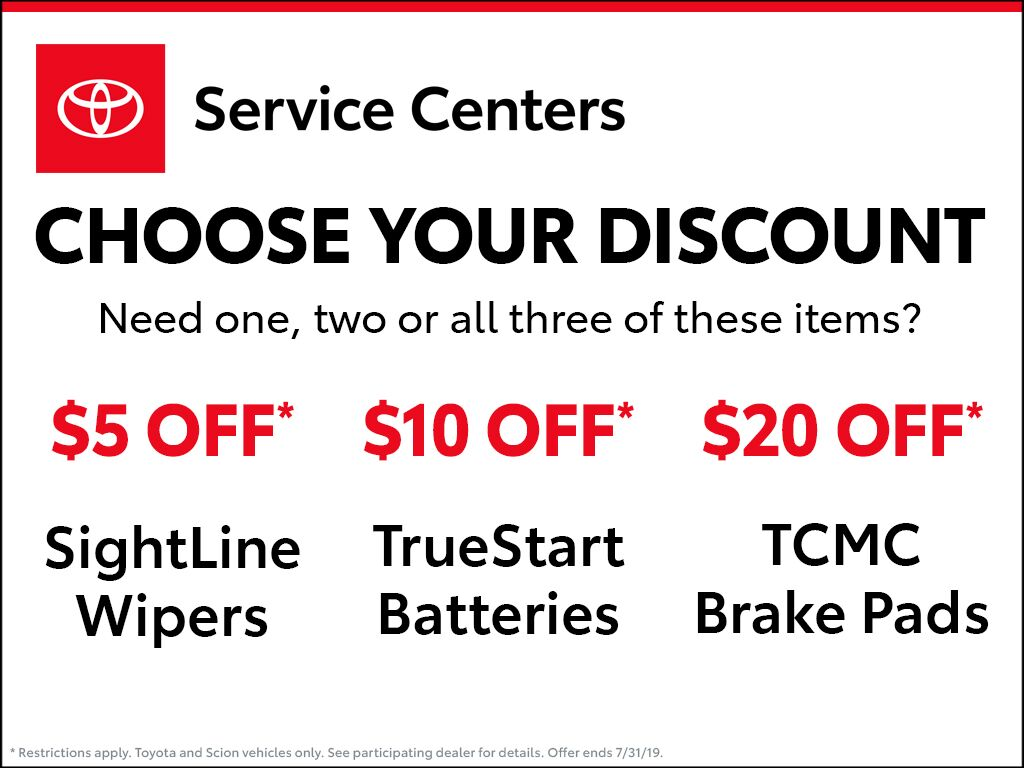 Choose Your Discount Earnhardt Toyota Service Coupon