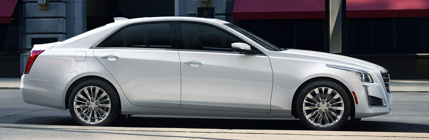 Cadillac CTS exterior in white side profile