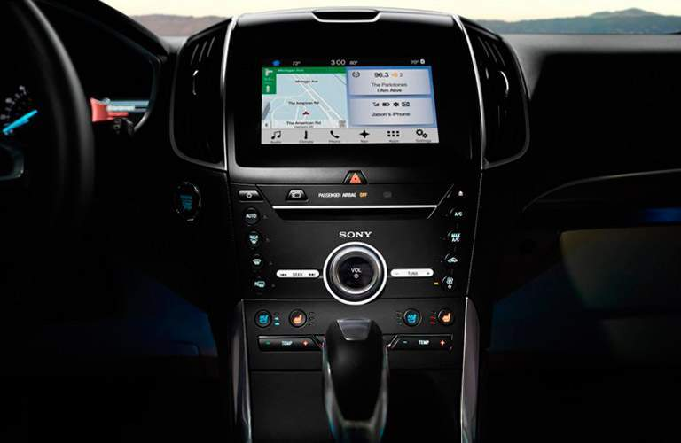 2017 Ford Edge center touchscreen