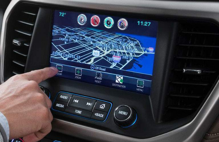 2017 GMC Acadia center touchscreen