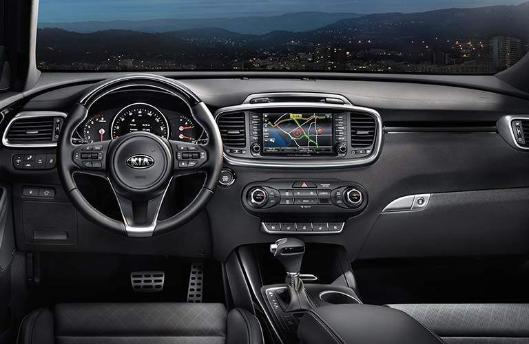 2017 Kia Sorento dashboard overview
