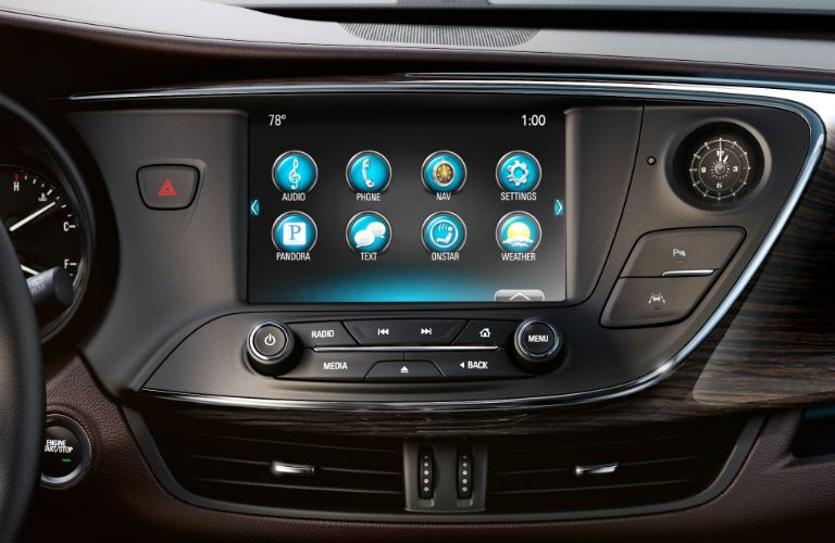2018 Buick Envision touchscreen display
