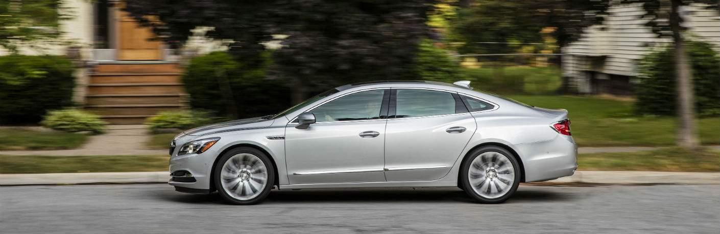2018 Buick La Crosse in grey driving down a residential street