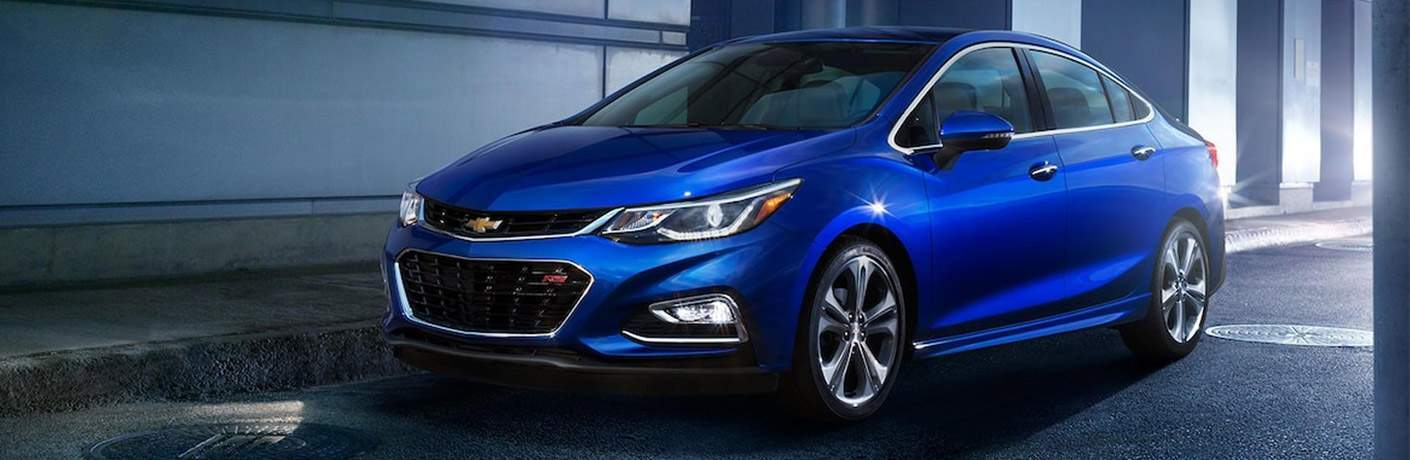 Chevy Cruze exterior in bright blue