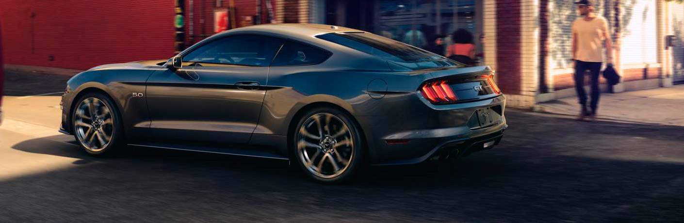 2018 Ford Mustang in black side profile