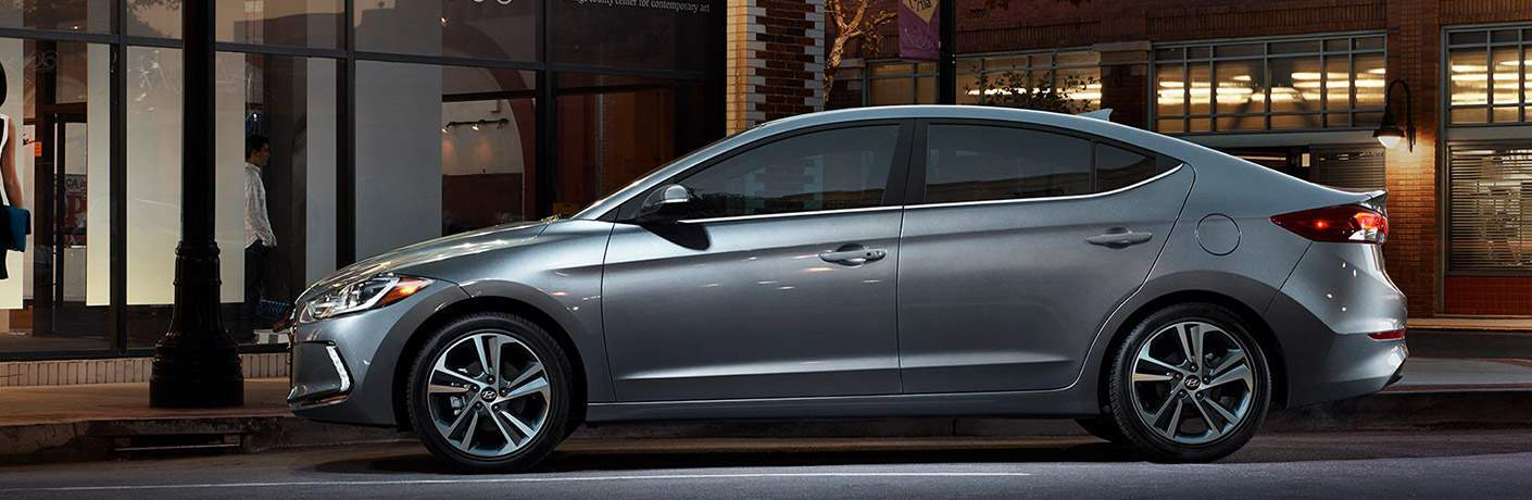 Hyundai Elantra in grey side profile