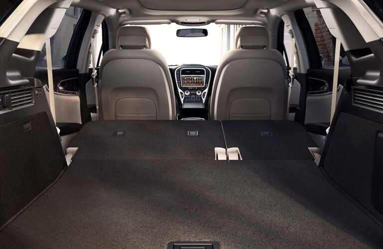 2018 Lincoln MKX cargo space with rear seats folded flat