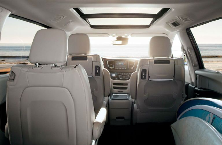 2018 Chrysler Pacifica first and second-row seats