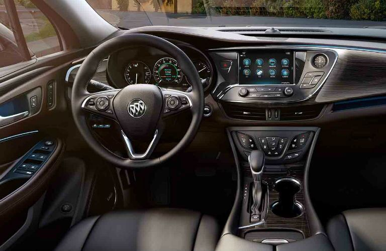 2018 Buick Envision steering wheel and dashboard