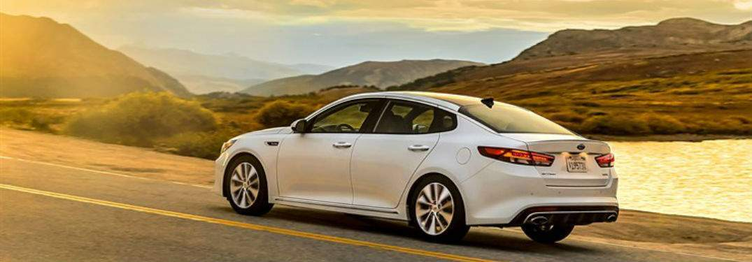 2018 Kia Optima exterior in white