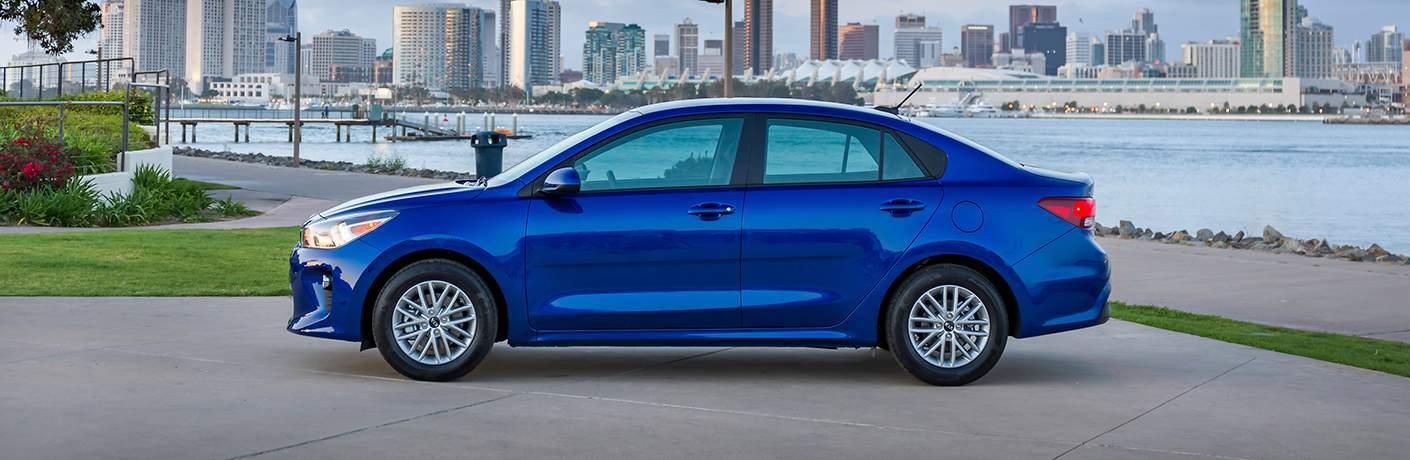 2018 Kia Rio exterior in blue side profile