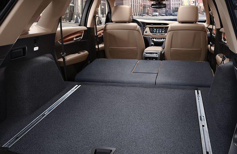 2019 Cadillac XT5 cargo space with rear seats folded flat