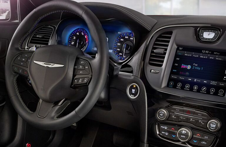 2019 Chrysler 300 steering wheel and center console
