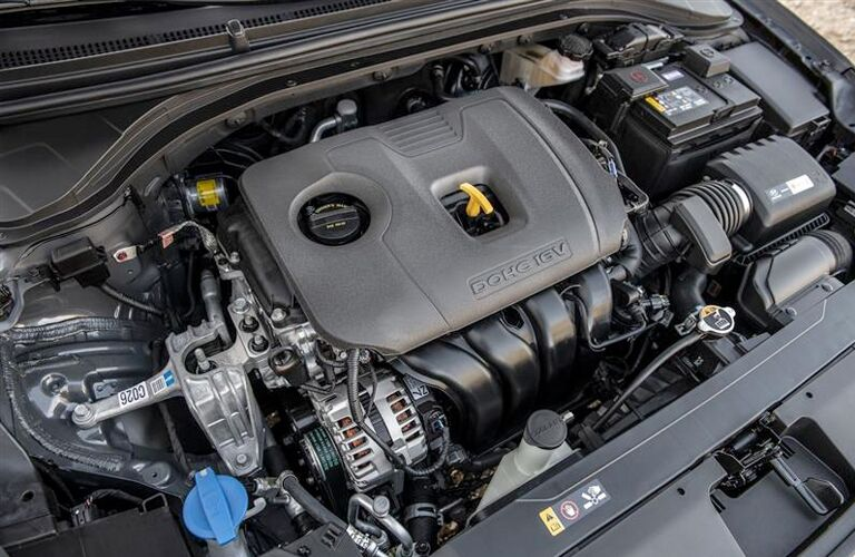 Under the hood of the 2019 Hyundai Elantra
