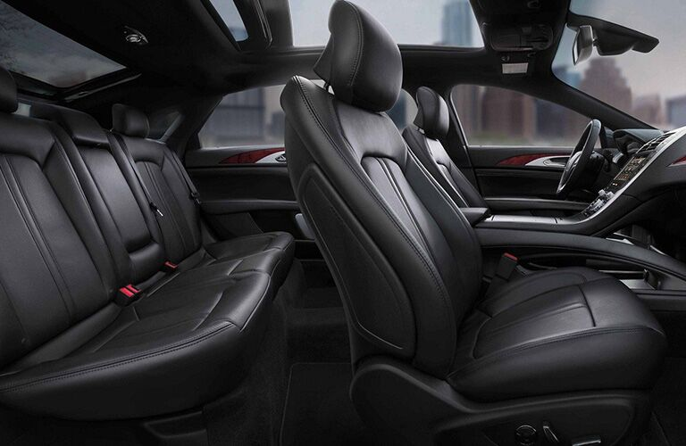 Side view of two rows in 2019 Lincoln MKZ