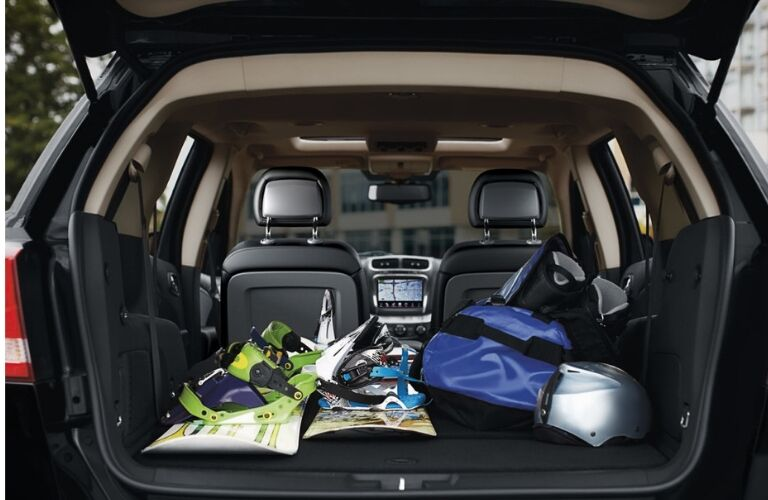 2019 Dodge Journey cargo space filled with gear