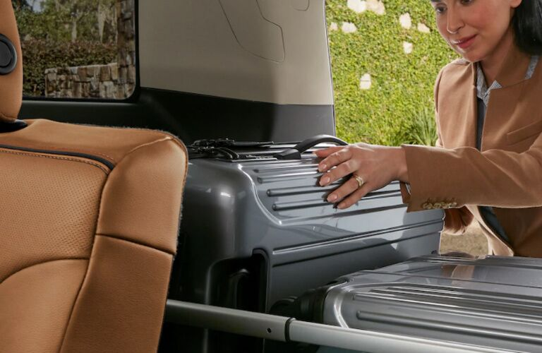 2019 GMC Acadia cargo space filled with luggage