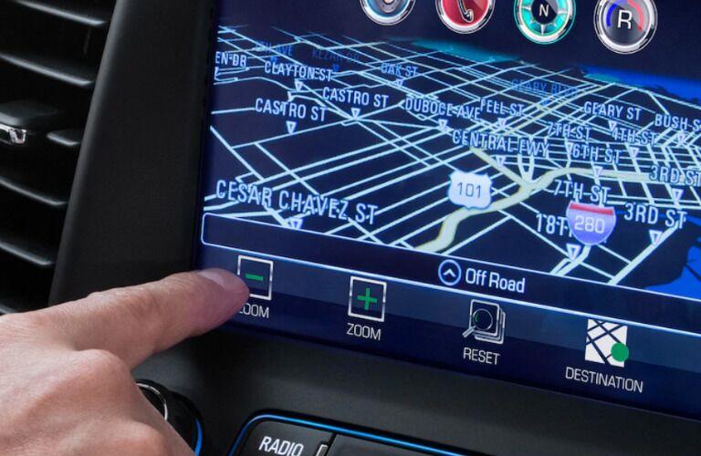 2019 GMC Acadia touchscreen display