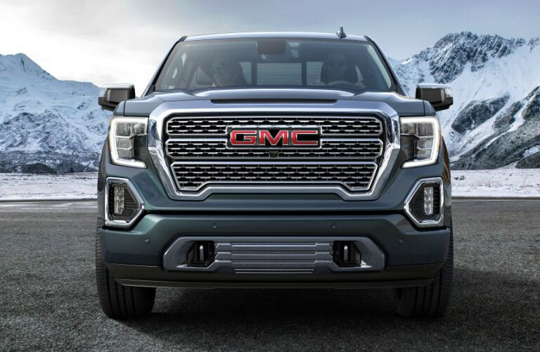 2019 GMC Sierra front fascia and grille