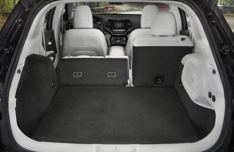2019 Jeep Cherokee cargo space with one rear seat folded flat