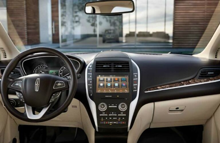 2019 Lincoln MKC steering wheel and dashboard