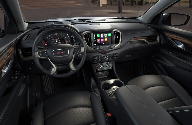 2020 GMC Terrain steering wheel and dashboard