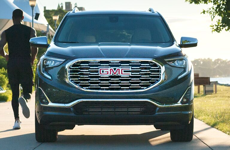 2020 GMC Terrain front grille and headlights