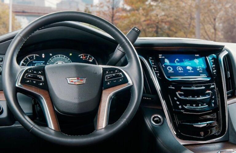 2020 Cadillac Escalade steering wheel and center console