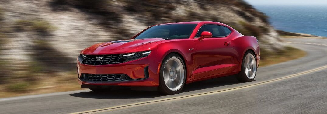 2020 Chevrolet Camaro going around a corner