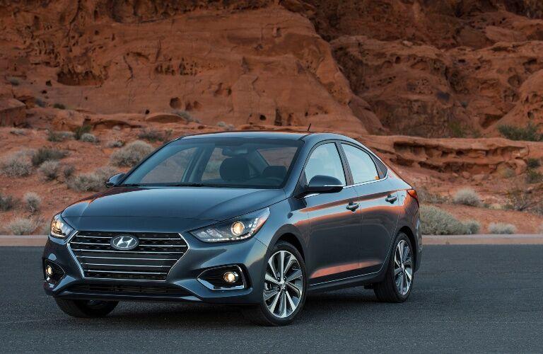 2020 Hyundai Accent in desert