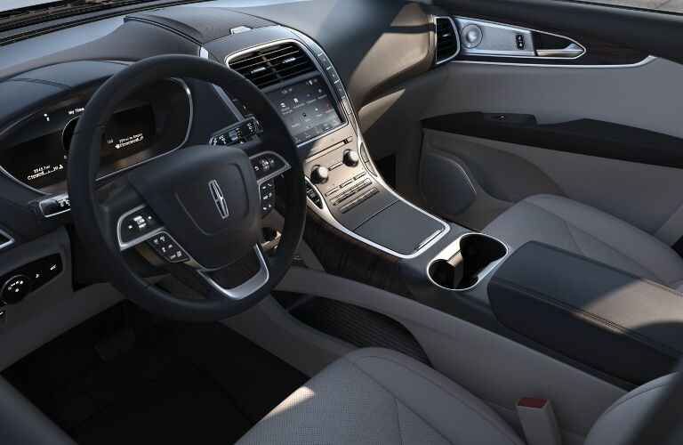2020 Lincoln Nautilus dashboard and front seats