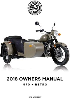 2018 Ural M70 | Retro Owners Manual