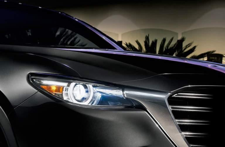 2017 mazda CX-9 headlight detail