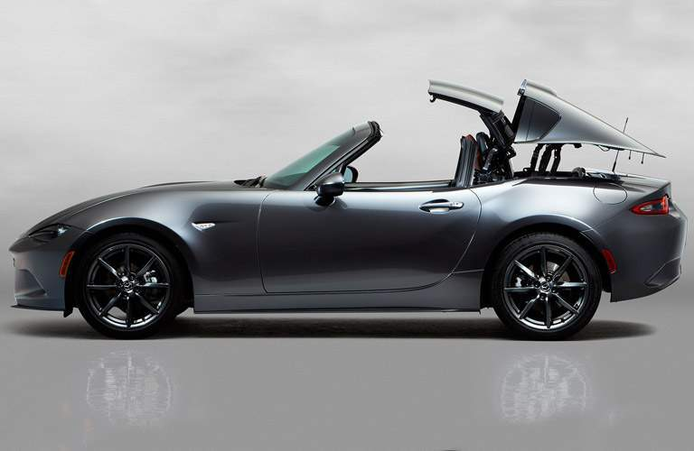 2017 Mazda MX-5 Miata RF in silver opening hard top