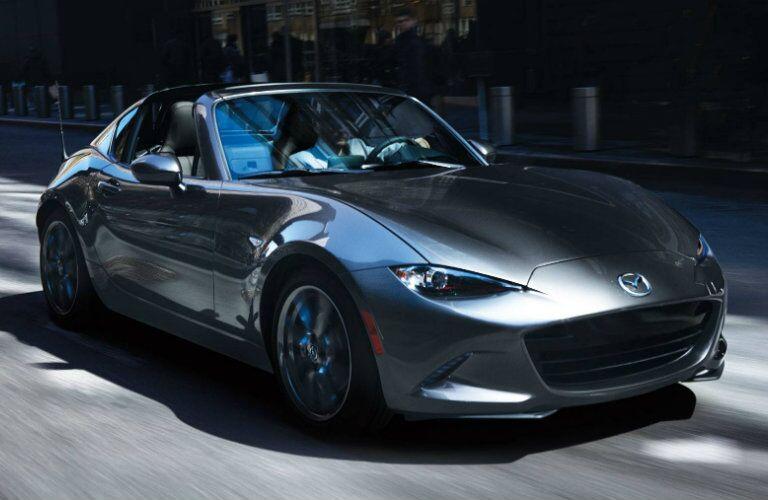 2018 Mazda MX-5 Miata RF gray front view